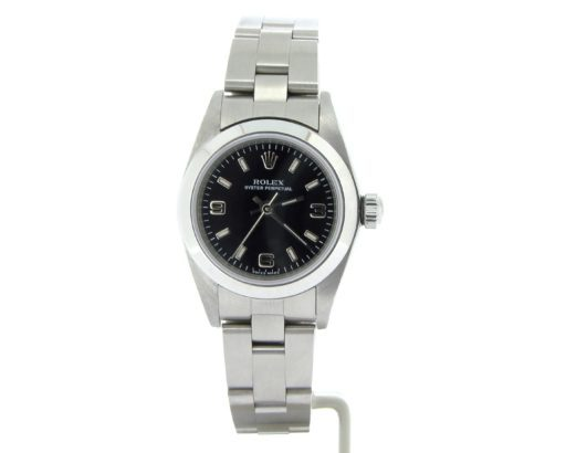 Rolex Stainless Steel Oyster Perpetual 76080 Black -6