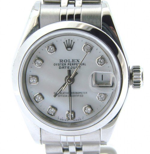 Rolex Stainless Steel Datejust 69160 White MOP Diamond-1