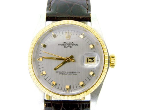 Rolex Two-Tone Date 1505 Gray Slate -4