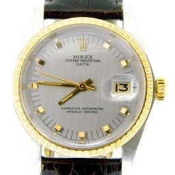 Mens Rolex Two-Tone 14K/SS Date Gray Slate  1505