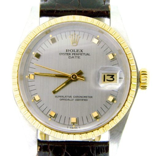 Rolex Two-Tone Date 1505 Gray Slate -1