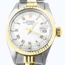 Ladies Rolex Two-Tone 14K/SS Date White Roman 6917 (SKU 3719067NMT)