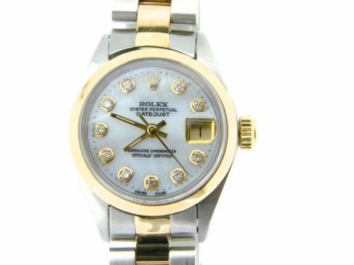 Rolex Two-Tone Datejust 6917 White MOP Diamond-4