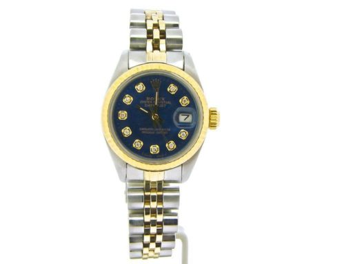 Rolex Two-Tone Datejust 6917 Blue Diamond-7