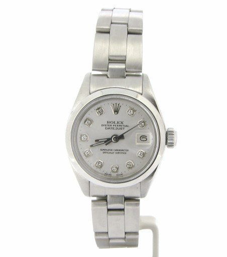 Rolex Stainless Steel Datejust 6916 White Diamond-5