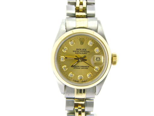 Rolex Two-Tone Datejust 6917 Champagne Diamond-6