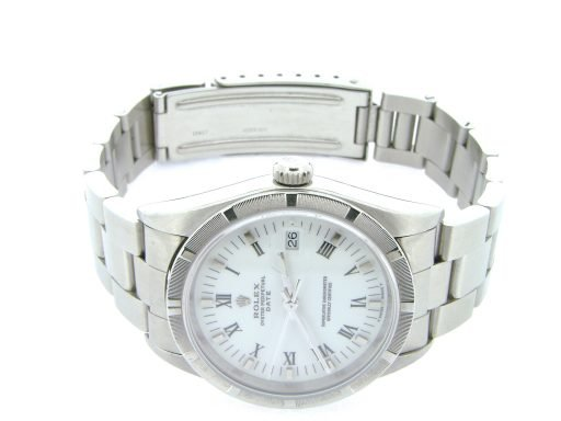 Rolex Stainless Steel Date 15210 White Roman-10