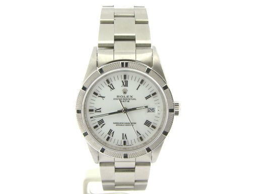 Rolex Stainless Steel Date 15210 White Roman-9