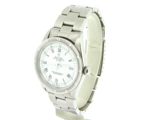Rolex Stainless Steel Date 15210 White Roman-11