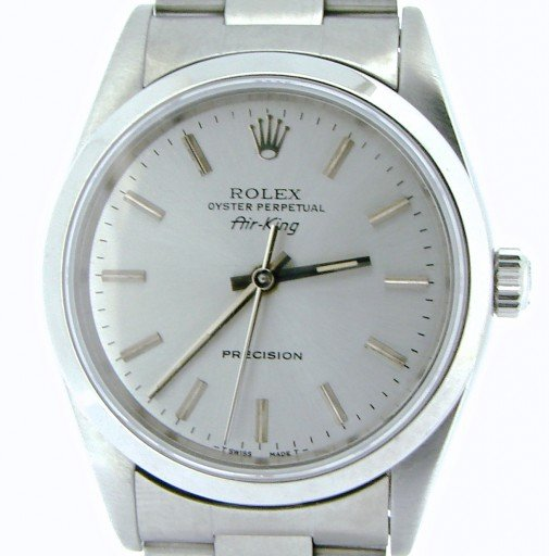 Rolex Stainless Steel Air-King 14000 Silver-1