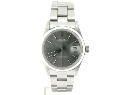 Rolex Stainless Steel Date 1500 Gray Slate -5