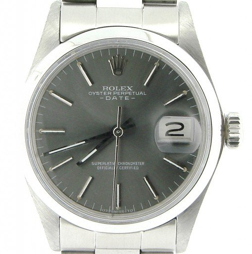 Rolex Stainless Steel Date 1500 Gray Slate -1