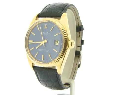 Rolex 18K Yellow Gold Datejust 1601 Blue -7
