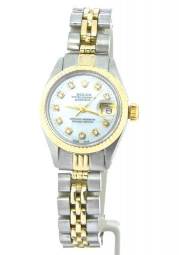 Rolex Two-Tone Datejust 6917 White MOP Diamond-8