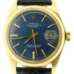 Mens Rolex 18K Yellow Gold Datejust Blue  1601 (SKU 4149078NBC)