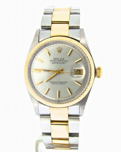 Rolex Two-Tone Datejust 1601 Silver -5