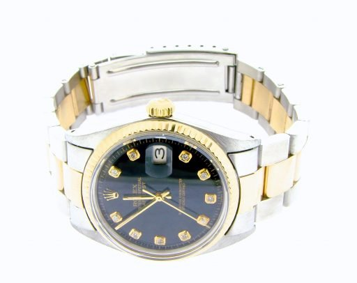 Rolex Two-Tone Datejust 1601 Black Diamond-4