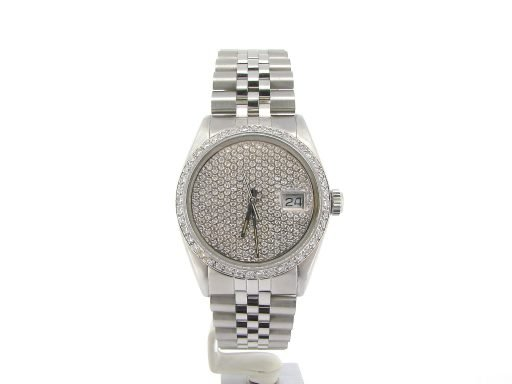 Rolex Stainless Steel Datejust 16030 Pave Diamond -6