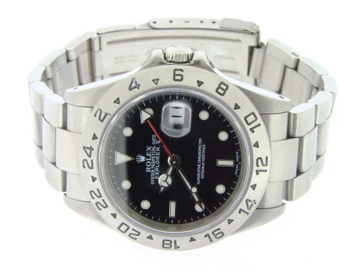 Rolex Stainless Steel Explorer II 16570 Black -7