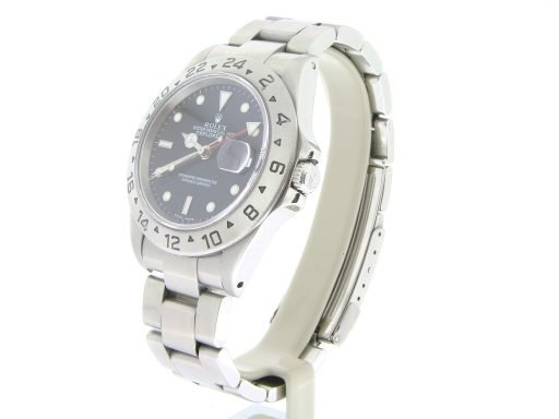 Rolex Stainless Steel Explorer II 16570 Black -6