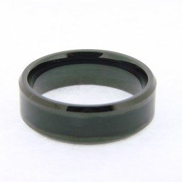 Mens Wolfram 8mm Tungsten Ring w/Wood Inlay Size 13 (SKU MENS02N)