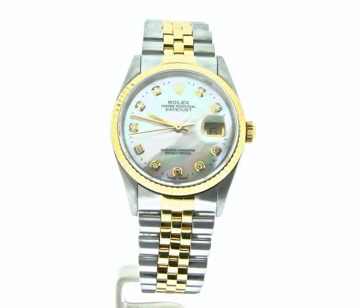 Rolex Two-Tone Datejust 16233 White MOP Diamond-6