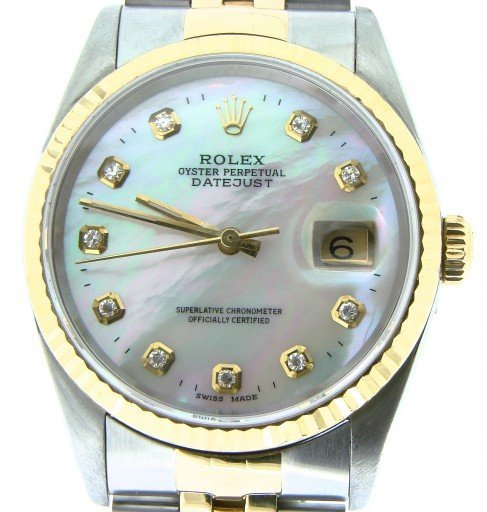 Rolex Two-Tone Datejust 16233 White MOP Diamond-1