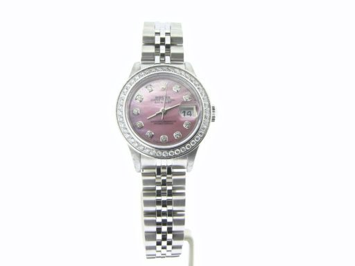 Rolex Stainless Steel Datejust 79174 Pink MOP Diamond-7