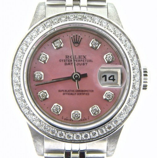 Rolex Stainless Steel Datejust 79174 Pink MOP Diamond-1