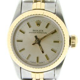 Ladies Rolex Two-Tone 18K/SS Oyster Perpetual Silver  67193 (SKU 9416049NCMT)