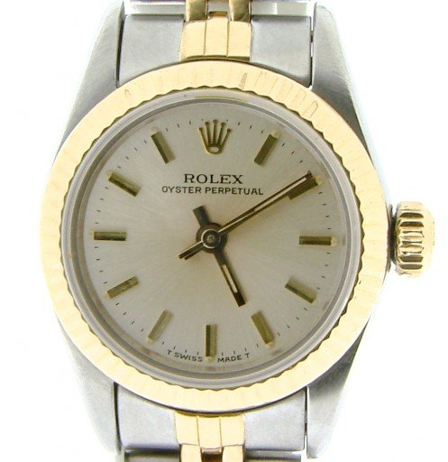 Rolex Two-Tone Oyster Perpetual 67193 Silver -2
