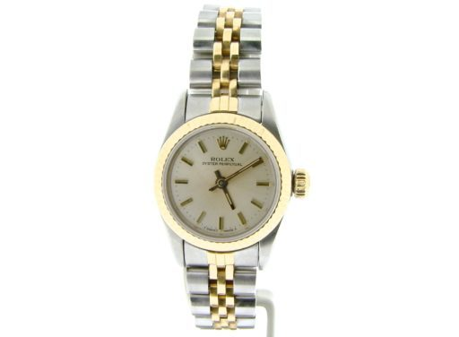 Rolex Two-Tone Oyster Perpetual 67193 Silver -1