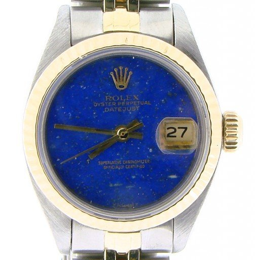 Rolex Two-Tone Datejust 6917 Blue Lapis -1