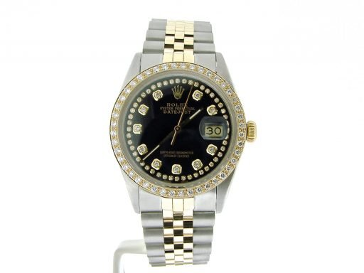 Rolex Two-Tone Datejust 16013 Black Diamond-5