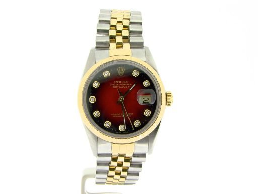 Rolex Two-Tone Datejust 16013 Red Diamond-5