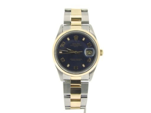 Rolex Two-Tone Date 15203 Blue Arabic-5
