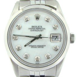Mens Rolex Stainless Steel Datejust White MOP Diamond 1603