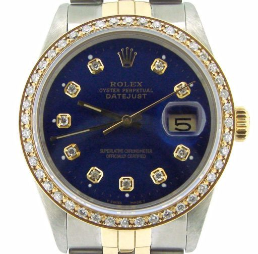 Rolex Two-Tone Datejust 16013 Blue Diamond-1