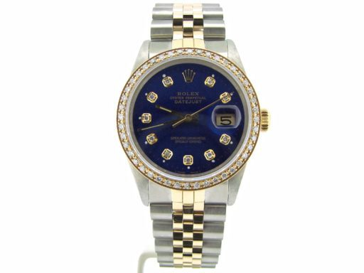 Rolex Two-Tone Datejust 16013 Blue Diamond-6