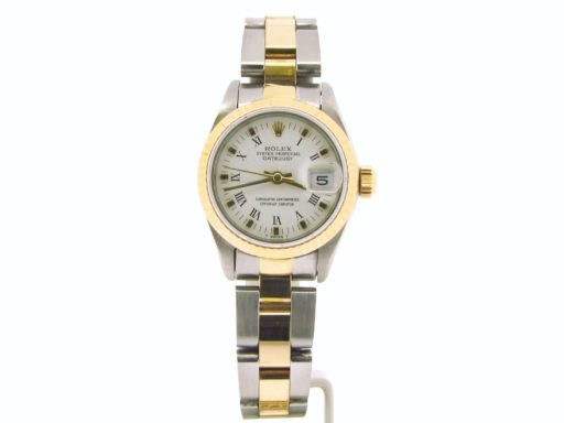 Rolex Two-Tone Datejust 69173 White Roman-4