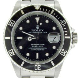 Mens Rolex Stainless Steel Submariner Black  16610 (SKU R819818NNBCMT)