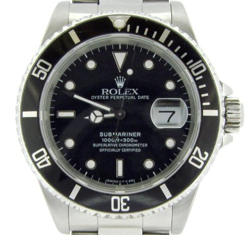 Rolex Stainless Steel Submariner 16610 Black -1