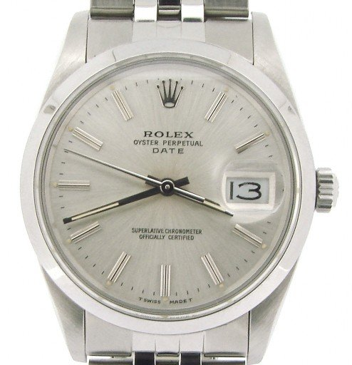 Rolex Stainless Steel Date 15000 Silver -1