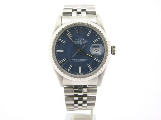 Rolex Stainless Steel Datejust 16030 Blue -5