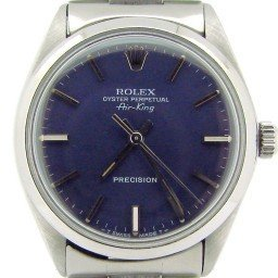 Mens Rolex Stainless Steel Air-King Blue  5500