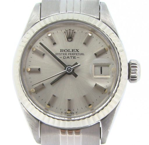 Rolex Stainless Steel Date 6917 Silver -1