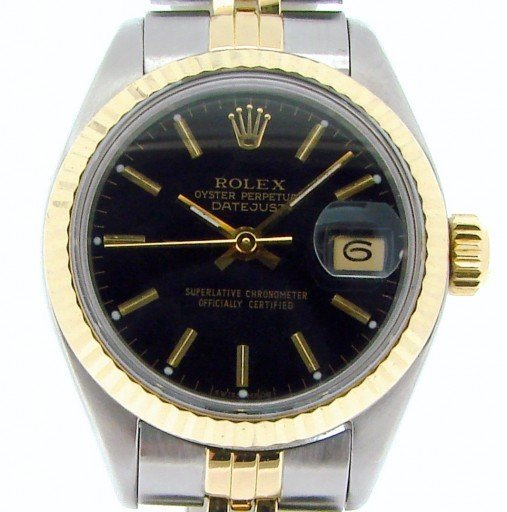 Rolex Two-Tone Datejust 69173 Black -1
