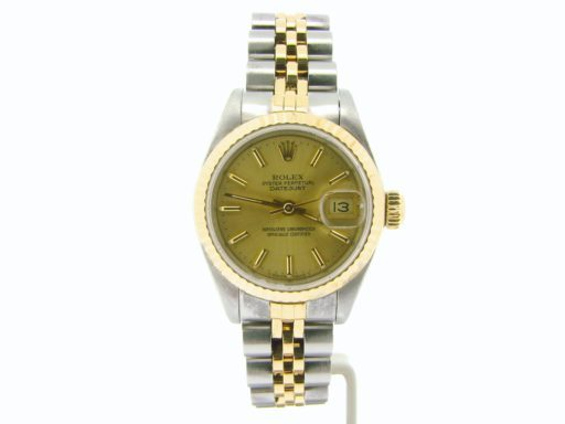 Rolex Two-Tone Datejust 69173 Champagne -4