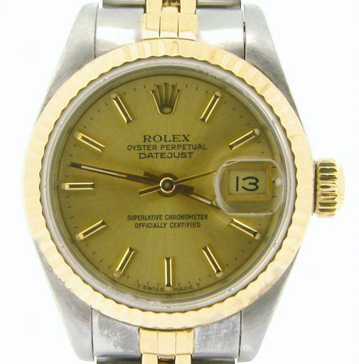 Rolex Two-Tone Datejust 69173 Champagne -1