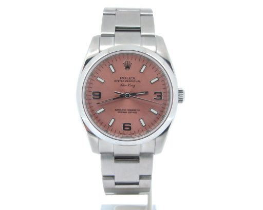 Rolex Stainless Steel Air-King 114200 Salmon-5